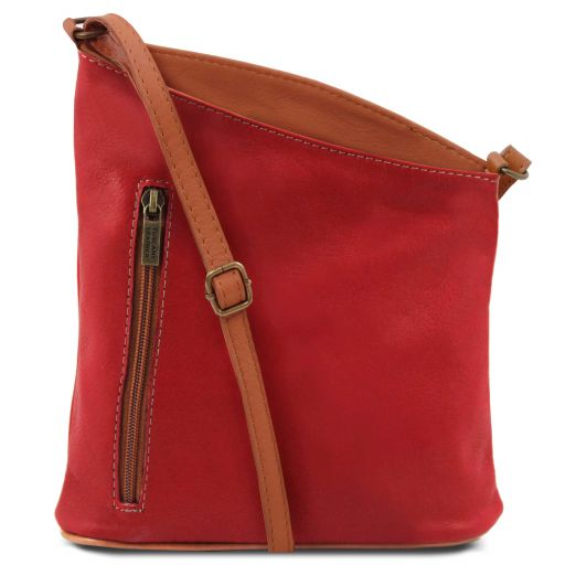 TL Bag Mini soft leather unisex cross bag Lipstick Red TL141111