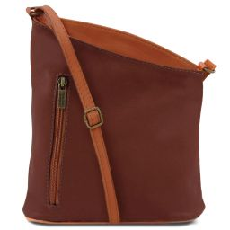 TL Bag Mini soft leather unisex cross bag Brown TL141111