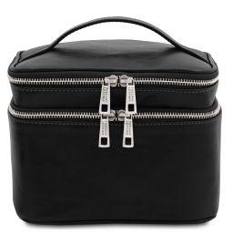 Eliot Leather toilet bag Black TL142045