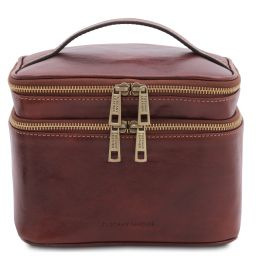 Eliot Beauty case in pelle Marrone TL142045