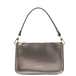 Cassandra Leather clutch handbag Iron-grey TL142038