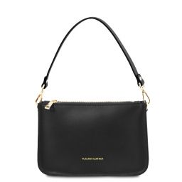 Cassandra Leather clutch handbag Black TL142038