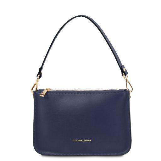 Cassandra Leather clutch handbag Dark Blue TL142038