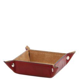 Эксклюзивный кожаный лоток для мелочей малая модель Красный TL141272