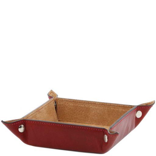 Esclusivo vuotatasche in pelle misura grande Rosso TL141271