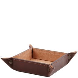 Exclusive leather valet tray Large size Brown TL141271