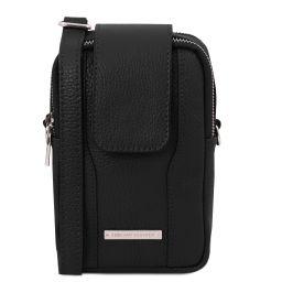 TL Bag Sac bandoulière pour portable en cuir souple Noir TL141698