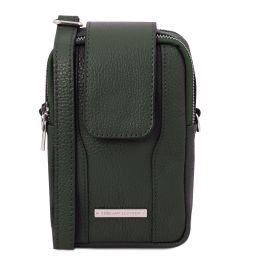 TL Bag Soft Leather cellphone holder mini cross bag Forest Green TL141698