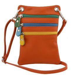 TL Bag Mini Schultertasche aus weichem Leder Orange TL141094