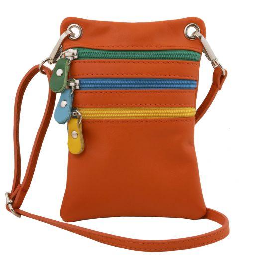 TL Bag Soft leather mini cross bag Orange TL141094
