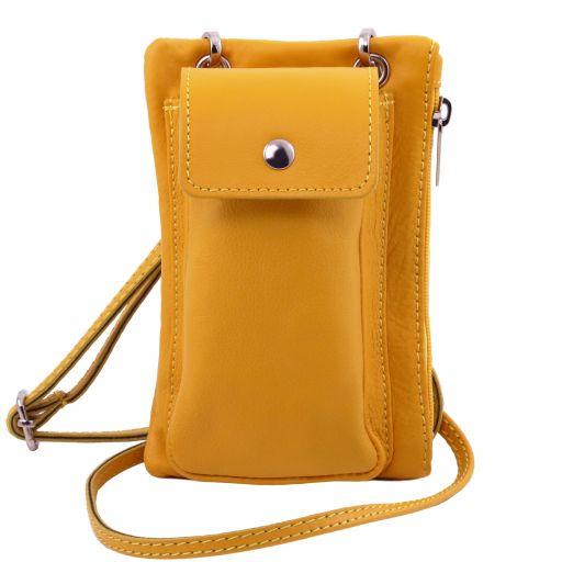TL Bag Bolsillo Porta móvil en piel suave Amarillo TL141423