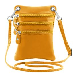 TL Bag Soft leather mini cross bag Yellow TL141368