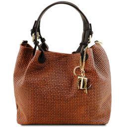 TL KeyLuck Tasche aus geprägtem Leder Cinnamon TL141573
