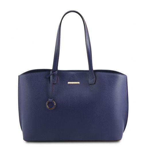 TL Bag Borsa shopping in pelle Blu TL141828