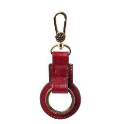 Porte clé en cuir Rouge TL141923