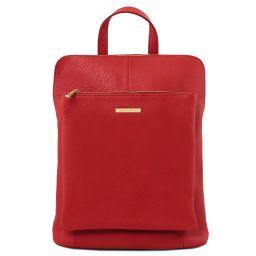 TL Bag Sac à dos pour femme en cuir souple Rouge Lipstick TL141682