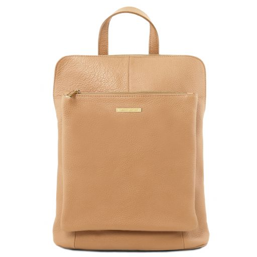 TL Bag Soft leather backpack for women Champagne TL141682