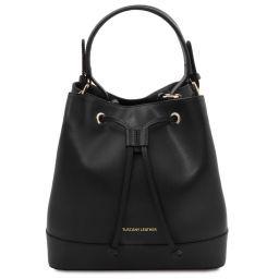 Minerva Leather bucket bag Черный TL142050