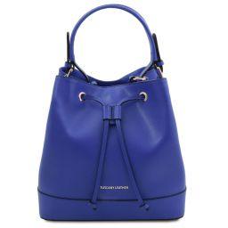 Minerva Borsa secchiello in pelle Blu TL142050