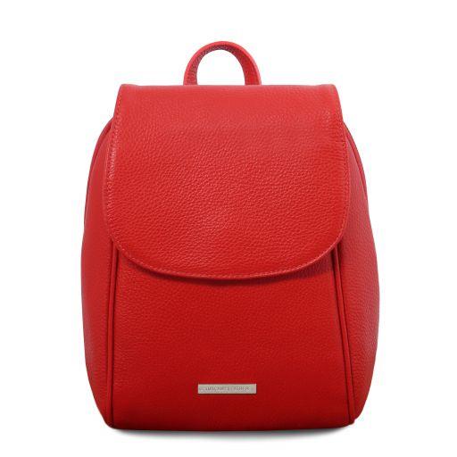 TL Bag Sac à dos en cuir souple Rouge Lipstick TL141905