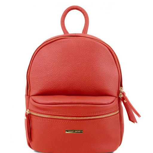 TL Bag Soft leather backpack for women Red TL141532