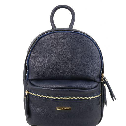 TL Bag Sac à dos pour femme en cuir souple Bleu foncé TL141532