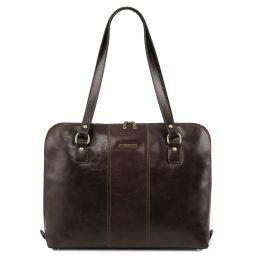 Ravenna Damen Business Tasche aus Leder Dunkelbraun TL141795