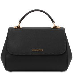 TL Bag Sac à main en cuir - Grand modèle Noir TL142077