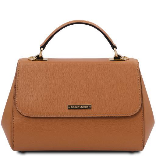 TL Bag Sac à main en cuir - Grand modèle Cognac TL142077