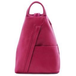 Shanghai Leather backpack Fuchsia TL141881