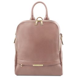 TL Bag Soft leather backpack for women Nude TL141376