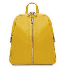 TL Bag Mochila para mujer en piel suave Amarillo TL141982