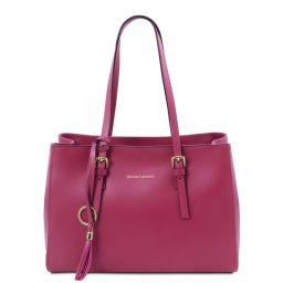 TL Bag Sac bandoulière en cuir Fuchsia TL142037