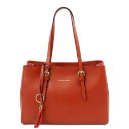 TL Bag Leather shoulder bag Brandy TL142037