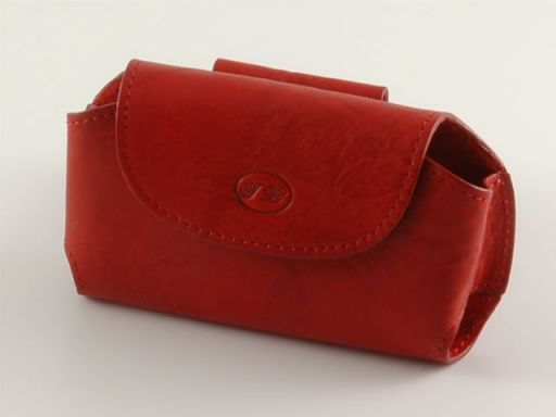 Portacellulare in pelle Rosso TL140324