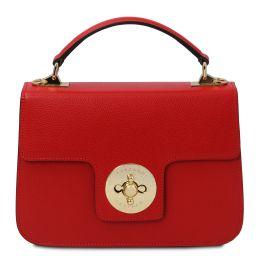 TL Bag Borsa a mano in pelle Rosso Lipstick TL142078