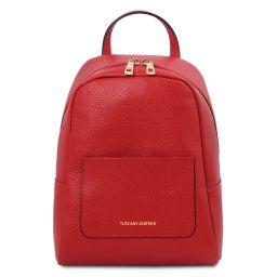 TL Bag Zaino piccolo da donna in pelle morbida Rosso Lipstick TL142052