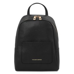 TL Bag Small soft leather backpack for women Black TL142052