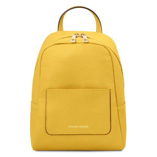 TL Bag Kleiner Damenrucksack aus weichem Leder Gelb TL142052