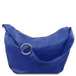 Yvette Borsa hobo in pelle morbida Blu TL140900