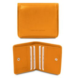 Exclusive leather wallet with coin pocket Желтый TL142059