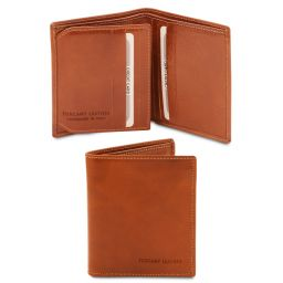 Exclusive 3 fold leather wallet for men Honey TL142057