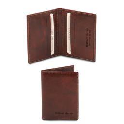 Elegante porta tarjetas en piel Marrón TL142063