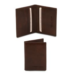 Exclusive leather card holder Dark Brown TL142063