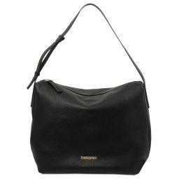 TL Bag Sac hobo en cuir souple Noir TL142081