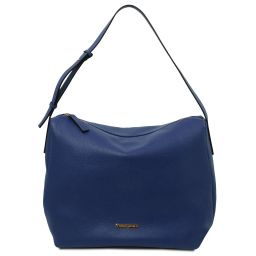 TL Bag Borsa hobo in pelle morbida Blu scuro TL142081
