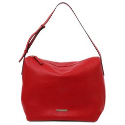 TL Bag Beuteltasche aus weichem Leder Lipstick Rot TL142081