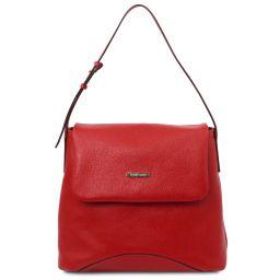 TL Bag Soft leather shoulder bag Lipstick Red TL142082