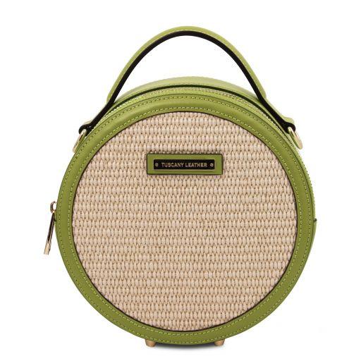 Thelma Straw effect round bag Зеленый TL142090