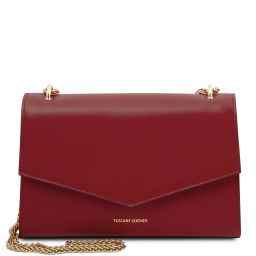 Fortuna Leather clutch with chain strap Красный TL141944